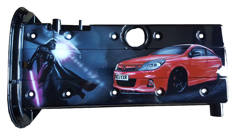 Darth Vader with Red VXR Rocker Cover